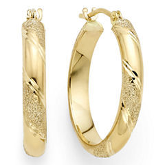 Laser-Cut 14K Yellow Gold 15mm Hoop Earrings