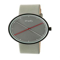 Simplify Unisex Gray Strap Watch-Sim4102