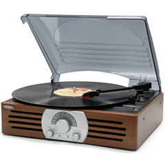 Jensen JTA-222 3-Speed Stereo Turntable with AM/FM Stereo Radio
