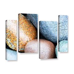 Brushstone Beach Rocks 4-pc. Gallery Wrapped Staggered Canvas Wall Art