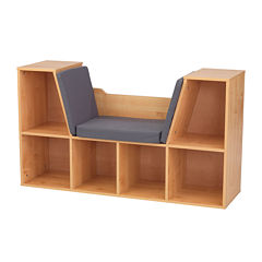 KidKraft® Bookcase with Reading Nook - Natural