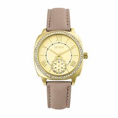 Geneva Womens Brown Strap Watch-Pt2517gdtn