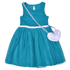 Nanette Baby Short Sleeve Skater Dress - Preschool Girls