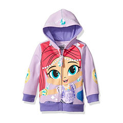 Nickelodeon Shine and Shimmer Toddler Girls Shimmer Costume Hoodie with Purple Glitter