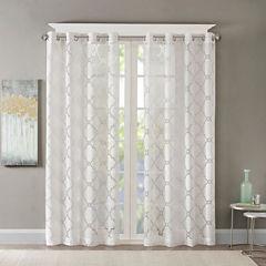 Madison Park Laya Grommet Top Grommet-Top Sheer Curtain Panel