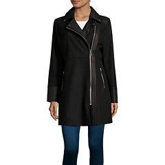 Sienna Studio Wool Blend Coat with Trim