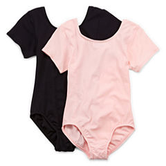 Jacques Morét 2-pk. Short-Sleeve Leotard - Girls