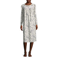 Adonna Flannel Long Sleeve Print Nightgown
