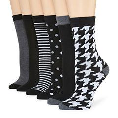 Mixit 6-pc. Crew Socks - Womens