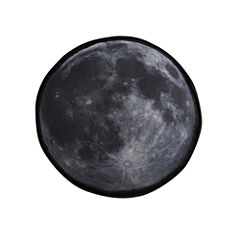 Laura Hart Kids Night Sky Moon Throw Pillow