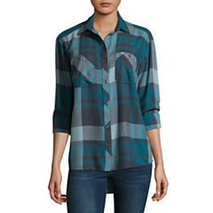 Columbia Sportswear Co. Long Sleeve Plaid Button-Front Shirt