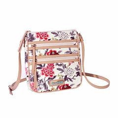 Waverly Bird Floral Double Zip Crossbody Bag