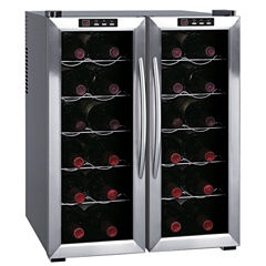 SPT WC-2461H: Double-Door Dual-Zone Thermo-Electric Wine Cooler with Heating 24-bottles