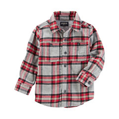 Oshkosh Short Sleeve Button-Front Shirt Boys