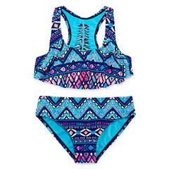 Arizona Girls Abstract Bikini Set - Big Kid