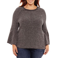 a.n.a Long Sleeve Chenille Pullover Sweater-Plus