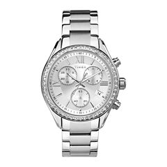 Timex® Elevated Classic Womens Chronograph Stainless Steel Bracelet Watch TW2P66800AB