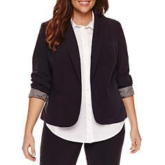 Worthington® Long Sleeve Open Front Blazer - Plus