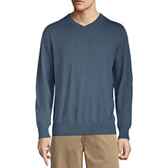 St. John's Bay Long Sleeve Knit Pullover Sweater