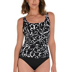 Trimshaper Trimshaper Floral One Piece Swimsuit