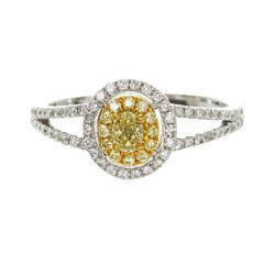Womens 3/8 CT. T.W. Genuine Pear Yellow Diamond 14K Gold Engagement Ring