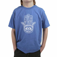 Los Angeles Pop Art Word Protect In Different Languages Graphic T-Shirt-Big Kid Boys