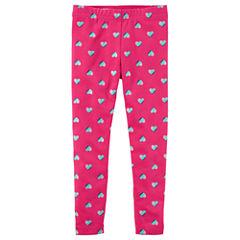 Carter's Hearts Knit Leggings - Toddler Girls