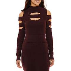 Bold Elements Cut Out Cold Shoulder Sweater