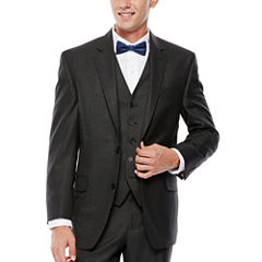 IZOD® Gray Sharkskin Suit Jacket - Classic Fit