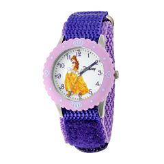 Disney Belle Kids Time Teacher Purple Strap Watch