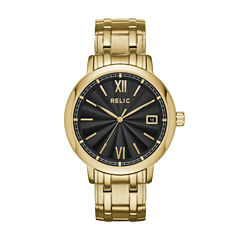 Relic Mens Gold Tone Bracelet Watch-Zr77289