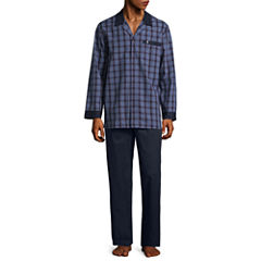 Jockey Yarn Dye Woven Pajama Set-Big and Tall