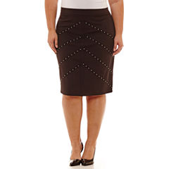 Bold Elements Pencil Skirt Plus