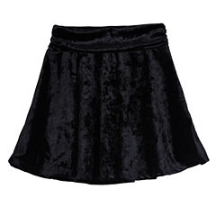 by&by girl Velvet Skater Skirt - Big Kid Girls
