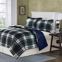 Madison Park Essentials Hartford Navy Plaid Down-Alternative Comforter Set