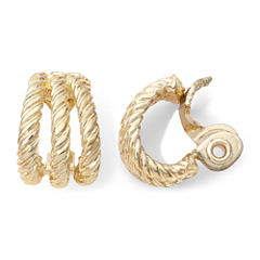 Monet® Gold-Tone Textured Rope Clip-On Earrings