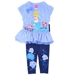 Disney Princess 2-pc. Pattern Pant Set Girls
