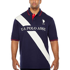 U.S. Polo Assn. Embroidered Short Sleeve Stripe Polo Shirt Big and Tall