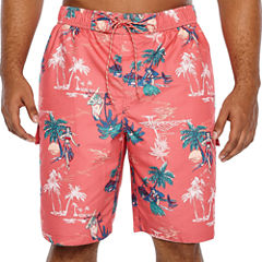 The Foundry Big & Tall Supply Co. Pattern Swim Shorts Big and Tall