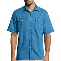 St. John's Bay Solid Crosshatch Shirt