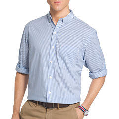 IZOD Advantage Performance Long Sleeve Non Iron Stripe Button-Front Shirt