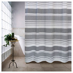 Park B Smith Seersucker Multi Bands Shower Curtain