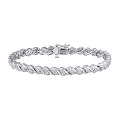 1/4 CT. T.W. Diamond Sterling Silver Bracelet