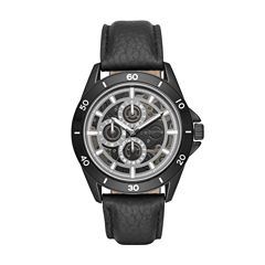 Claiborne Mens Black Strap Watch-Clm1199