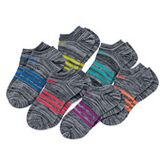 adidas Girls 6 Pair No Show Socks-Big Kid