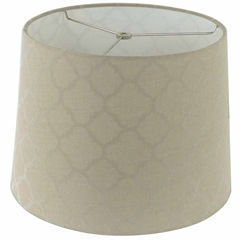 Tan Linen Shade With Ogee Pattern