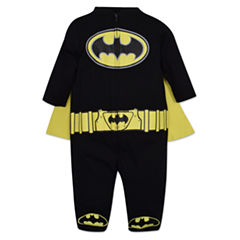 Caped Long Sleeve Batman Romper - Baby