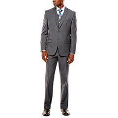 Collection by Michael Strahan Gray Weave Suit- Classic