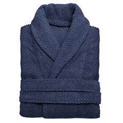 Linum Home Textiles Unisex Herringbone Weave Bathrobe