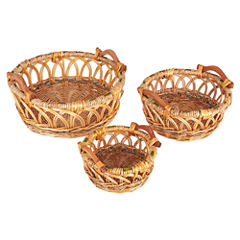 Household Essentials Robin Wicker 3-pc. Basket